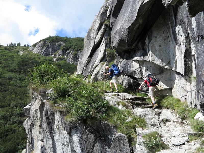 Aufstieg zur Mandrone Hütte