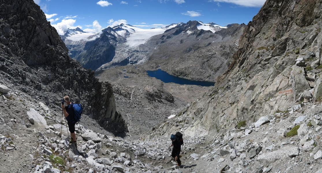 Aufstieg zum Passo Maroccaro 2975m