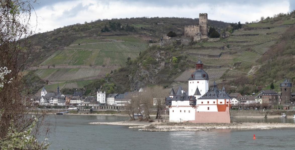 Kaub mit der Pfalzburg