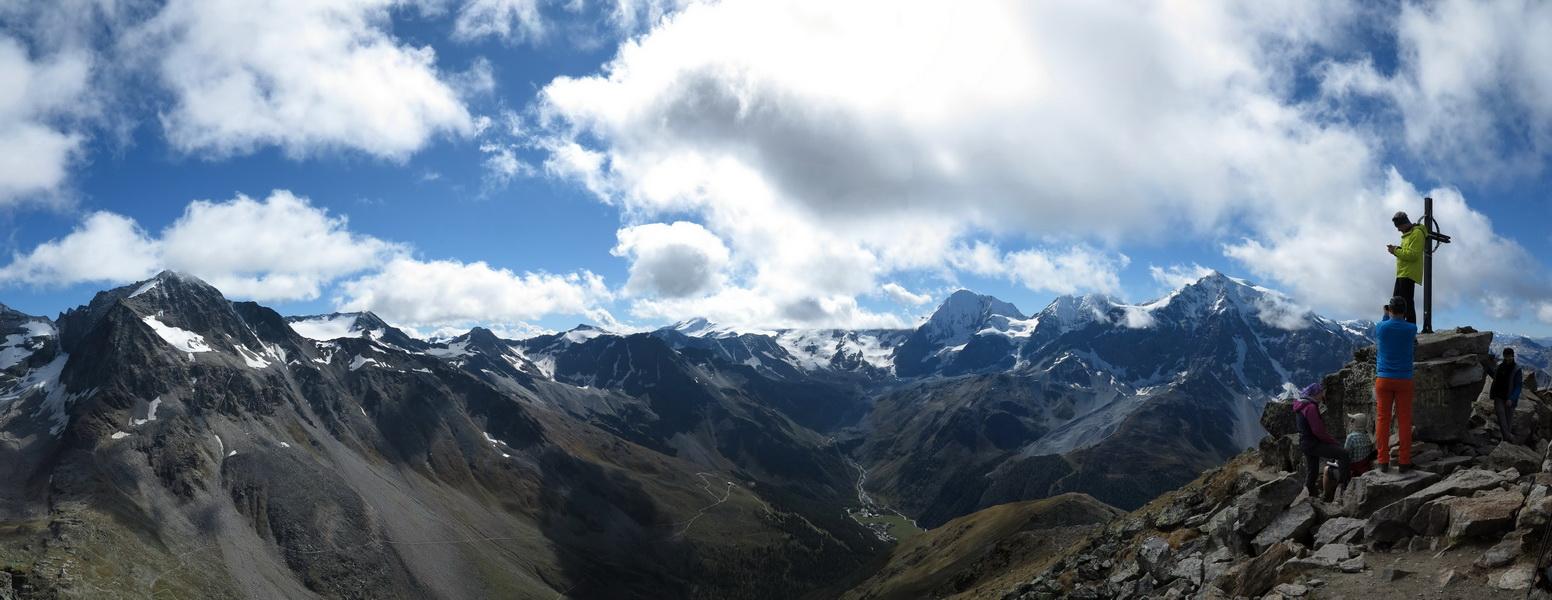 Panorama vom Hinteren Schöneck 3140m