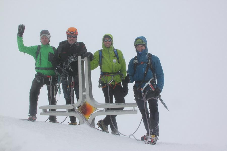 Summit 3905m ohne Sicht
