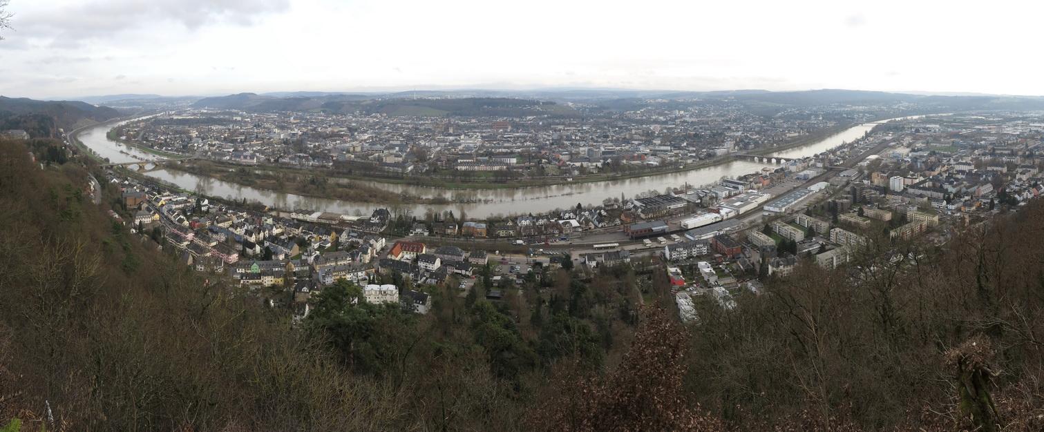 Blick auf Trier von der Mariensäule
