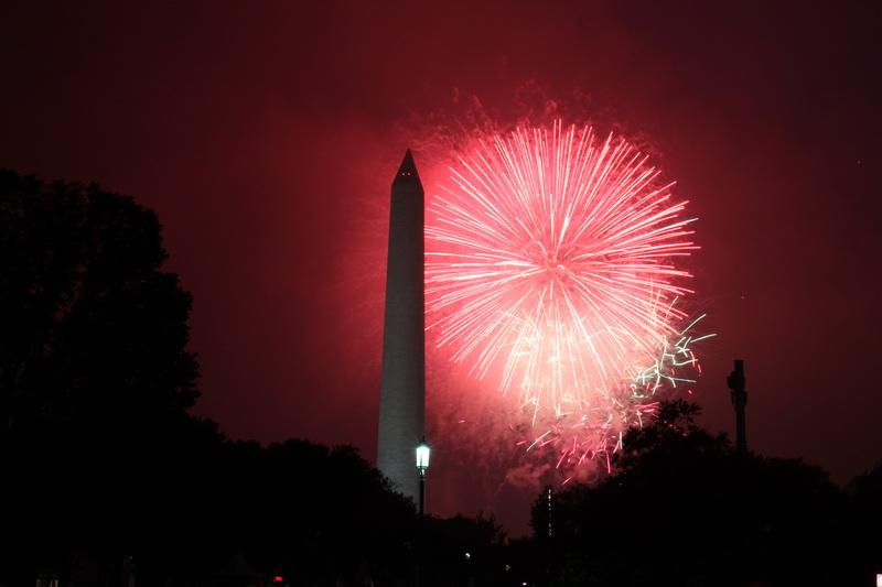 Feuerwerk am Washington Monument