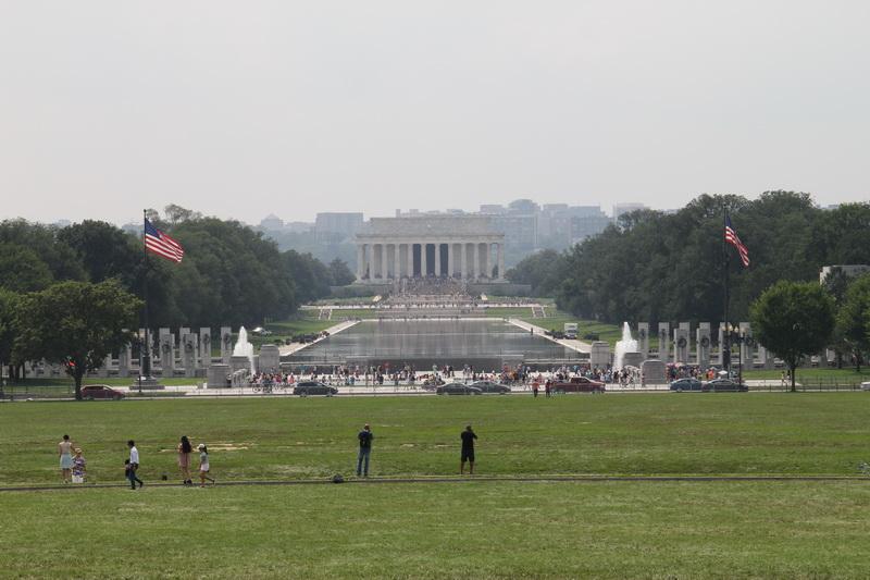 Lincoln Memorial- Blick vom Washington Monument