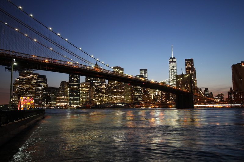 Manhattan -Blick vom Brooklyn Park