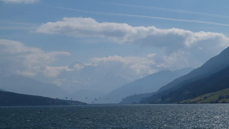 Blick auf Ortler vom Reschensee