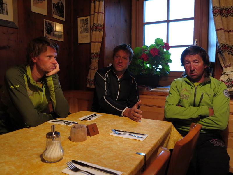 Die Bergführer Bernhard, Robert und Kurt