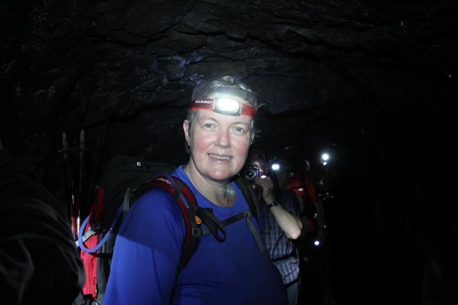Im langen Tunnel der Levada do Pico Ruivo