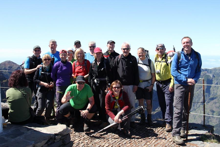 Das Summit Team am Pico Ruivo 1862m