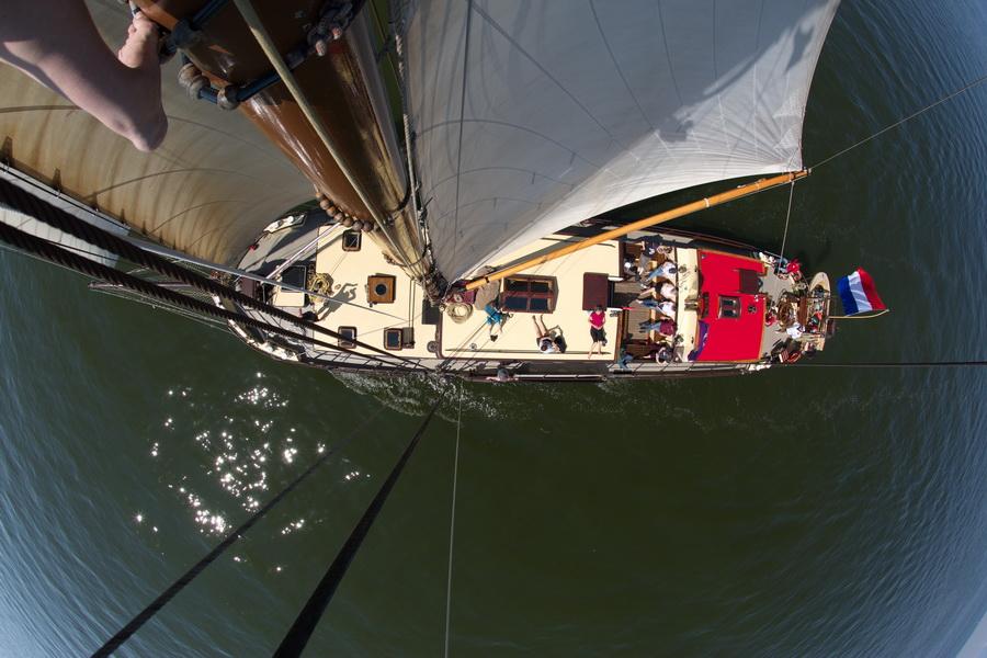 Perspektive aus dem Bootsmannstuhl