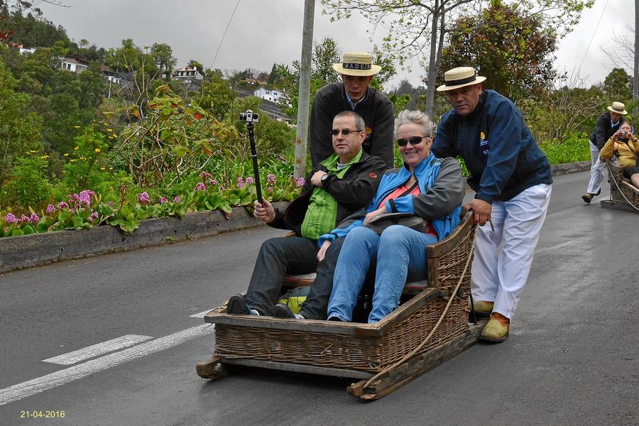 Schlittenfahrt in Funchal