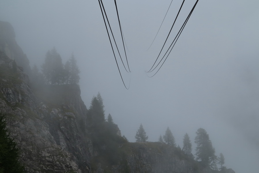Bergfahrt Rosettaseilbahn