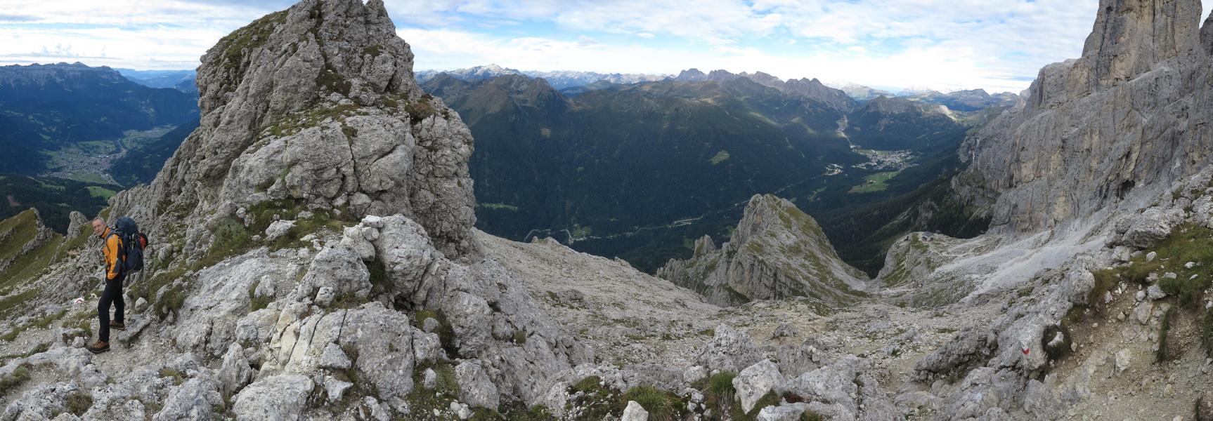 Panorama von der Cima di Stanga 2550m