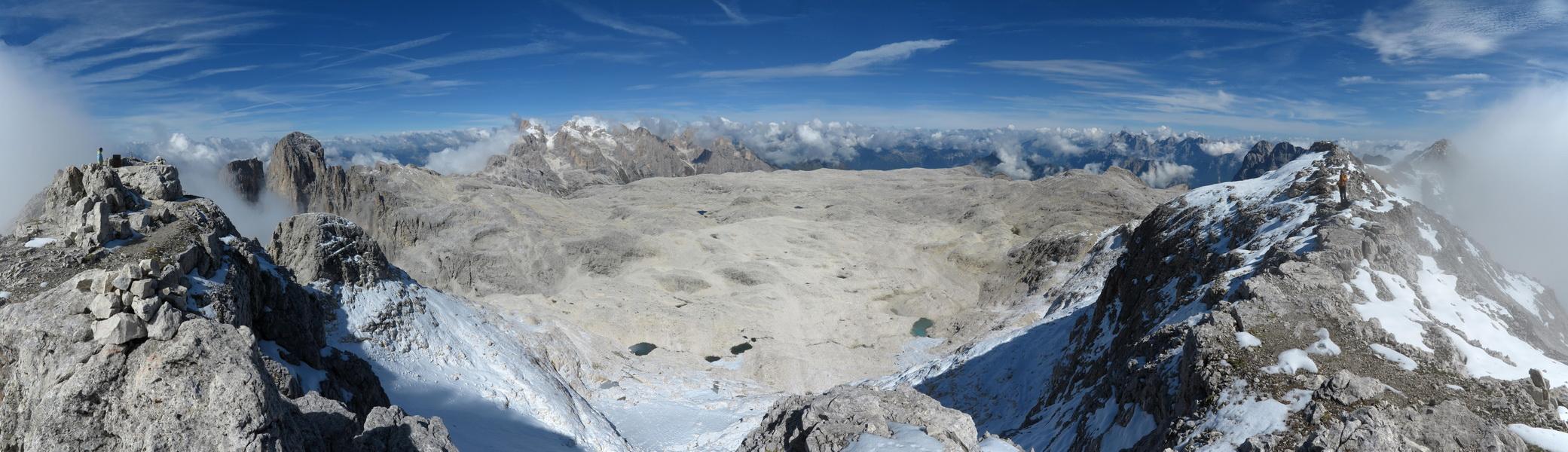 Panorama nach Westen vom Fradusta Gipfel 2939m
