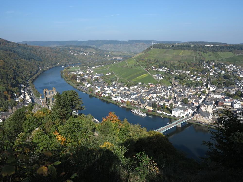 Blick von der Grevenburg auf Traben- Trarbach
