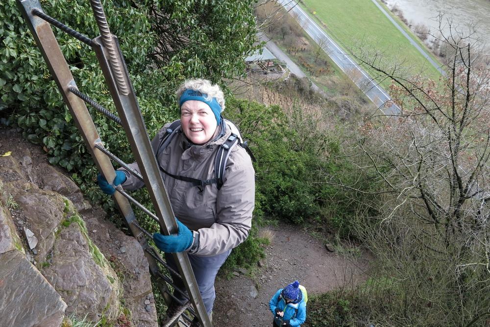 Leiter im Calmont Klettersteig