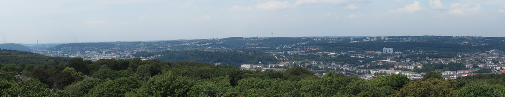Blick auf Wuppertal vom Toelleturm
