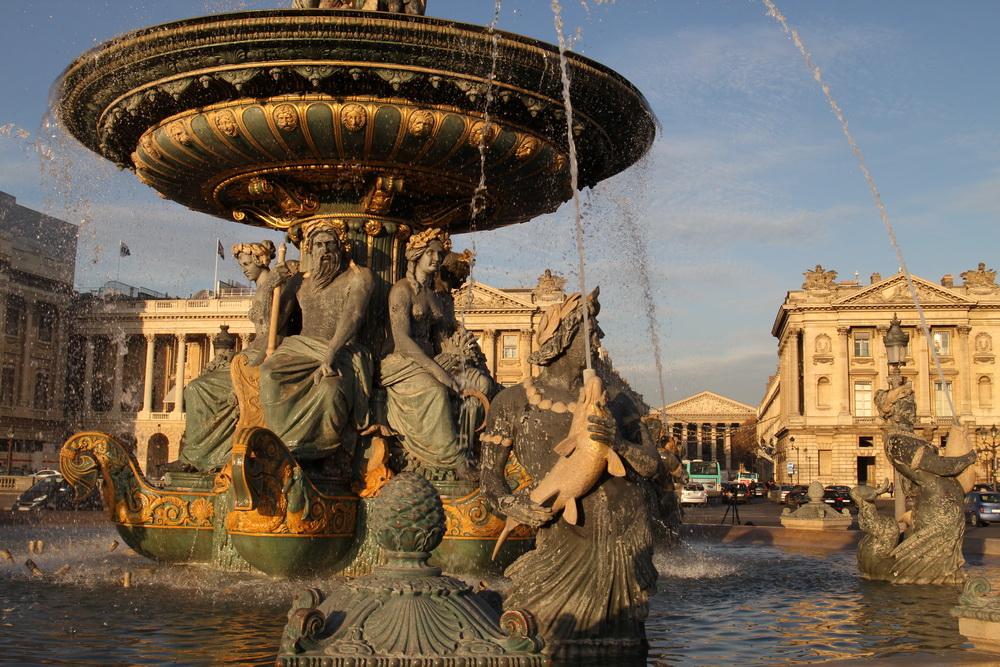 Brunnen am Place de la Concorde