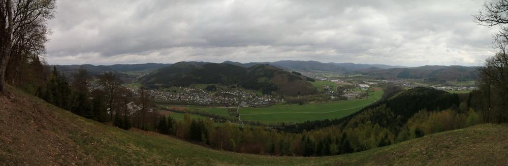Blick vom Entenberg 550m