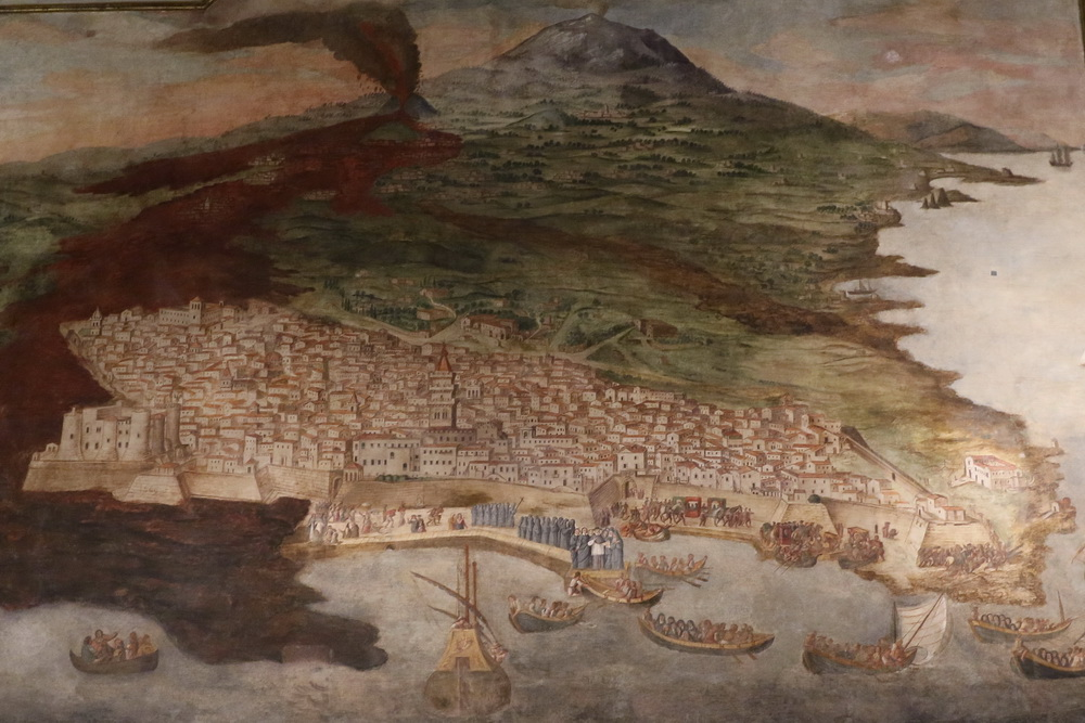 Catania Ausbruch Ätna 1669- Zeitgenössische Darstellung
