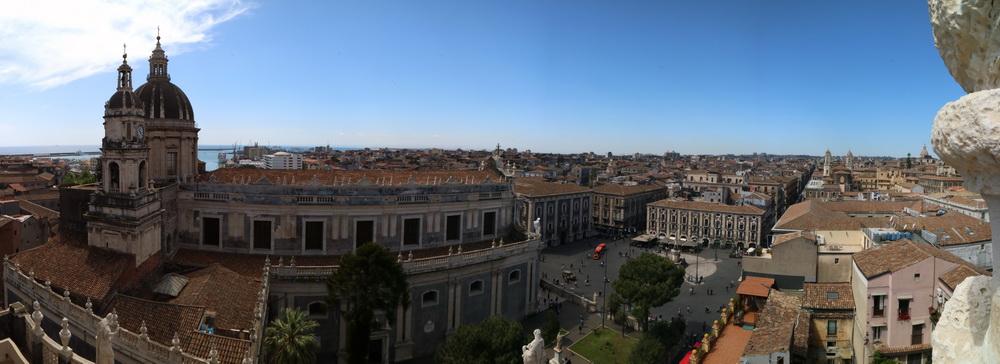 Catania- Blick von der Kirche Badia di Sant'Agatha