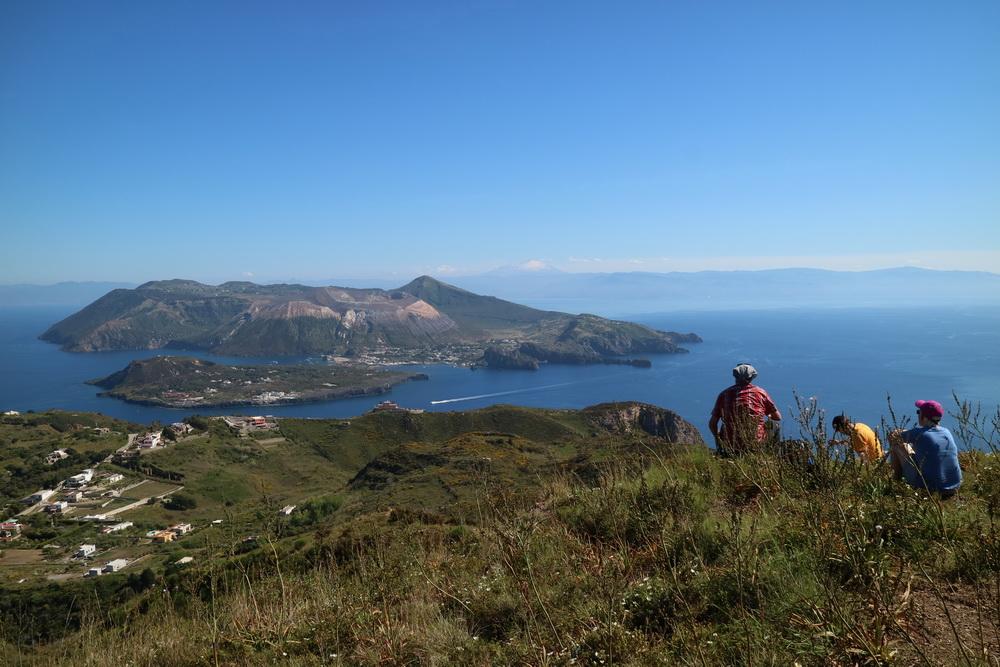 Monte Guardia- Blick nach Süden auf Vulcano