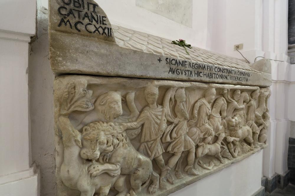 Römischer Sarcophag Konstanze von Aragón 1184-1222 ( Dom Palermo)