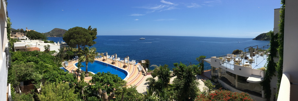 Blick aus dem Hotel Lipari