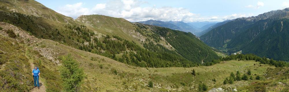 Blick NO über Martelltal ins Vinschgau