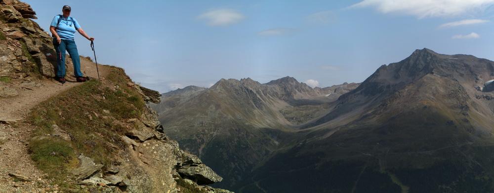 Auf dem Morosiniweg zur Hintergrathütte