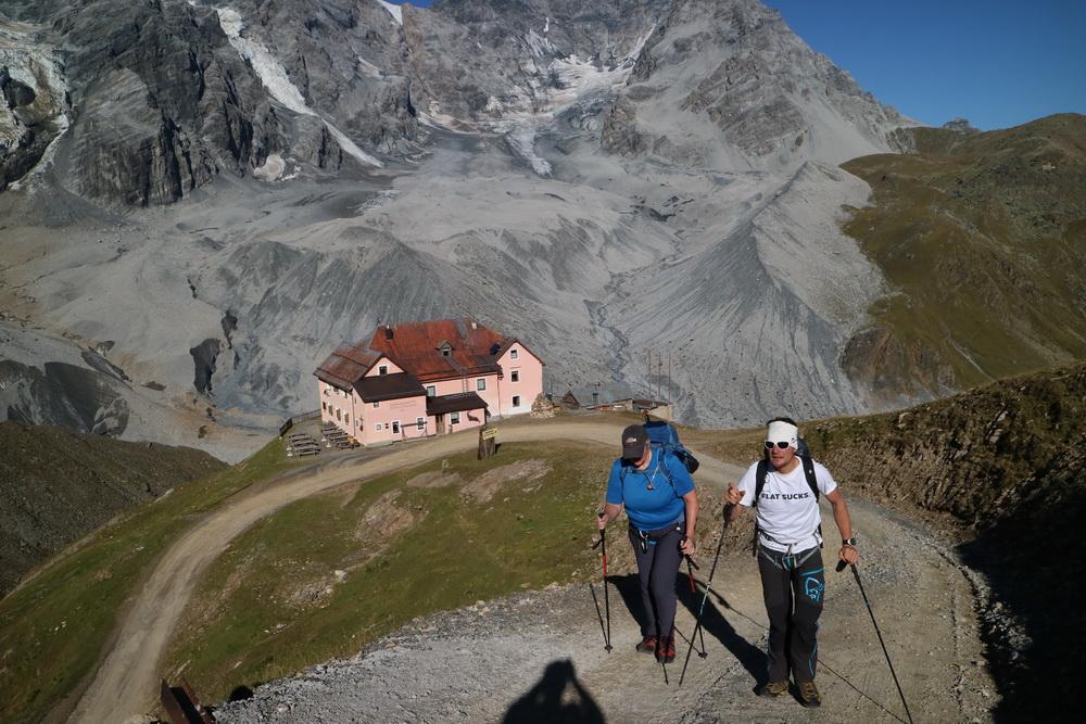Aufbruch an der Schaubachhütte