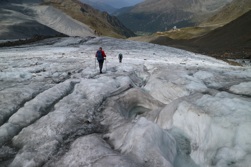 Die letzten Meter auf dem Suldengletscher