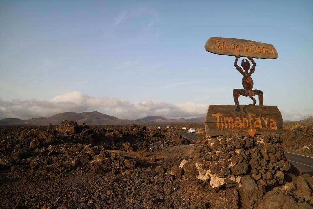 Einfahrt zum Malpaís- dem schlechten Land