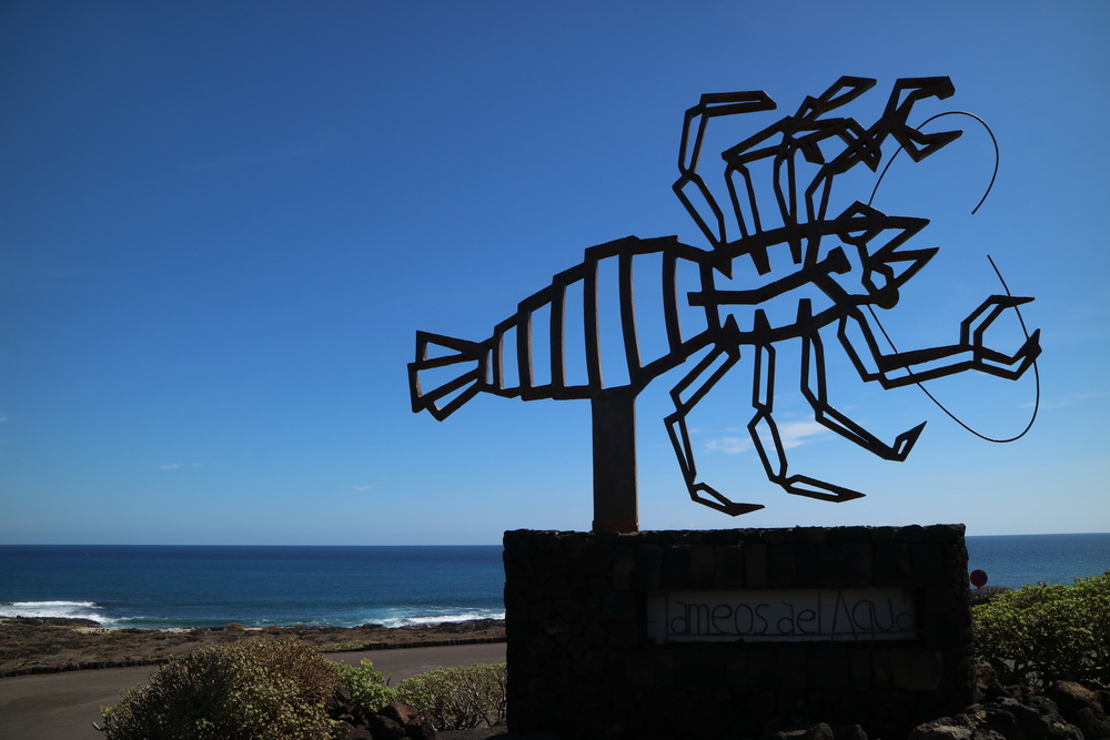Skulptur Manriques an den Jameos del Agua