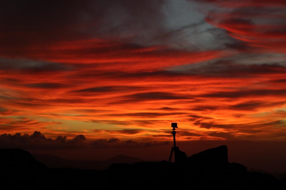 Sunset an der Eremita de las Nieves