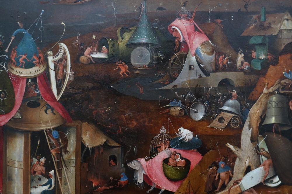Das Jüngste Gericht- Hieronymus Bosch-(Detail)- 1495-1505