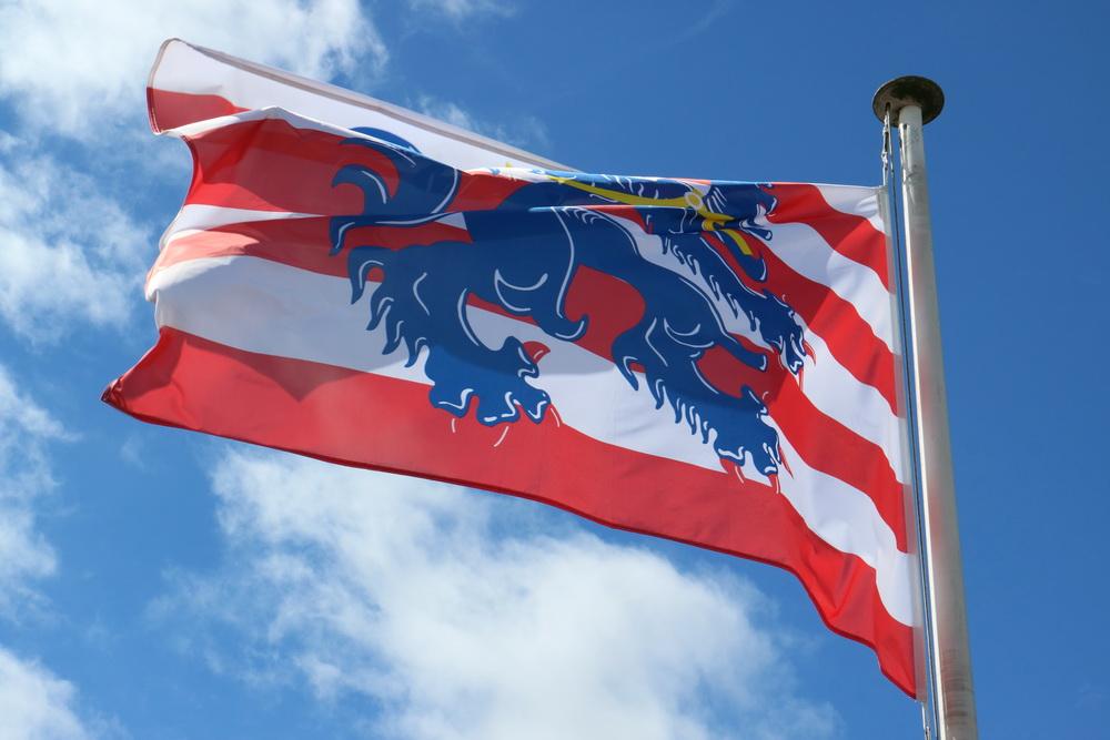 Flagge auf dem Gentpoort