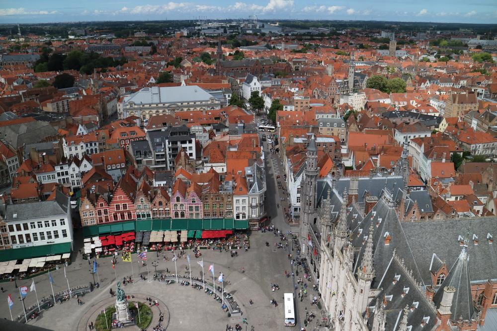 Blick vom Belfried auf den Grote Markt