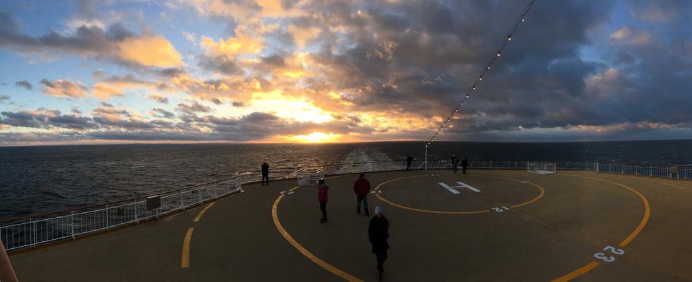 Sunset auf dem Achterdeck