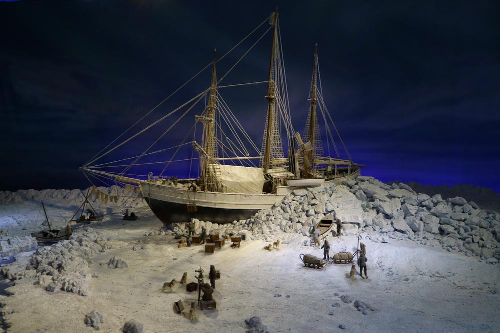 Diorama- Die Fram im Packeis