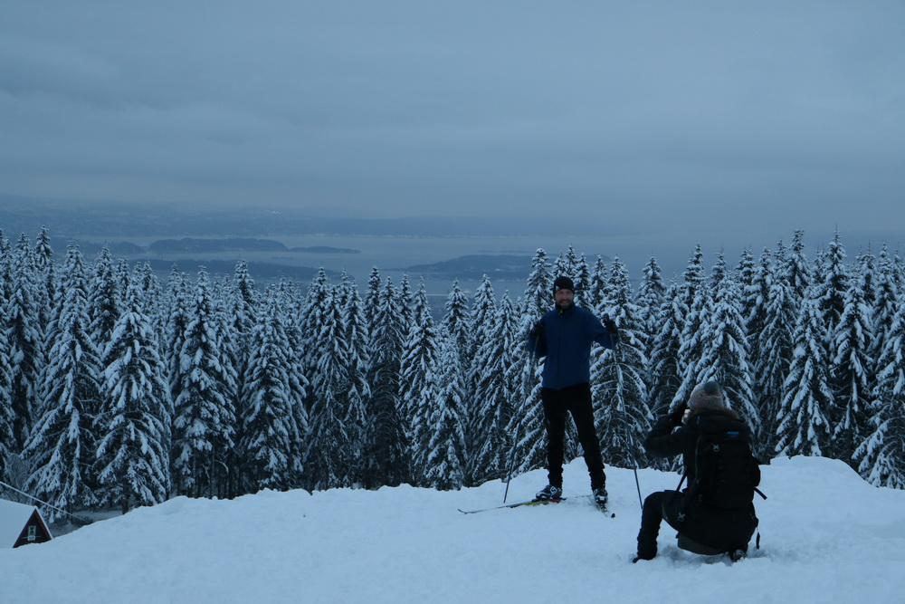 Wintersport auf Oslos Hausberg