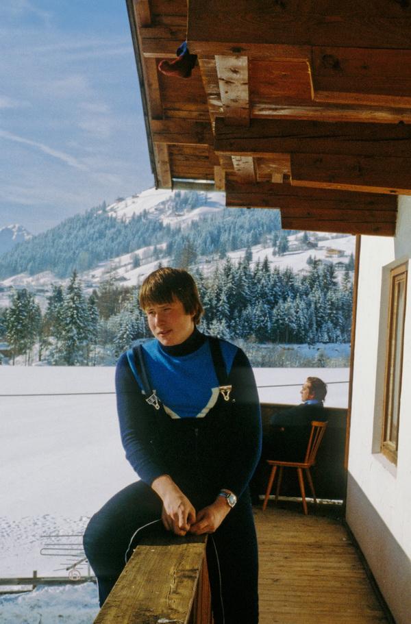 Arnd auf Klassenfahrt 1980 in Oberau/Tirol