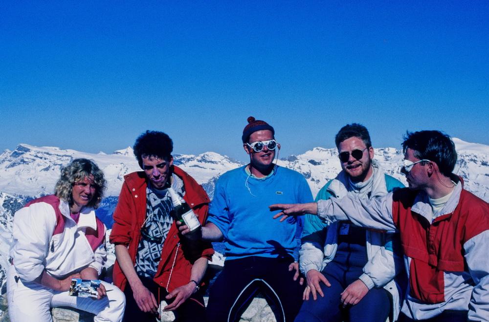 Grimentz 1989- Mein 26.Geburtstag