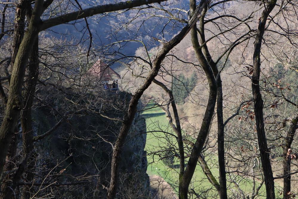 Die steilen Klippen am Gabelstein