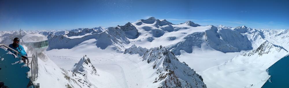 Panorama mit Wildspitze 3774m (vom Hinteren Brunnenkogel 3440m)