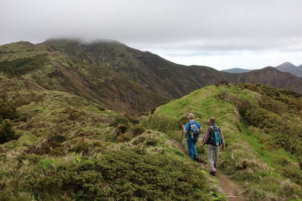 Am Pico da Vara 1105m (Gipfel in den Wolken)