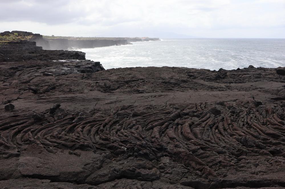 Strick- Lava an der Nordküste Picos