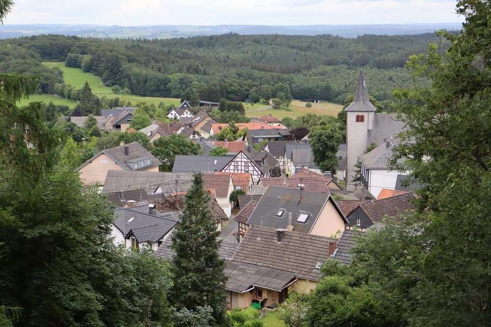 Blick auf Aremberg (von der Burgruine)
