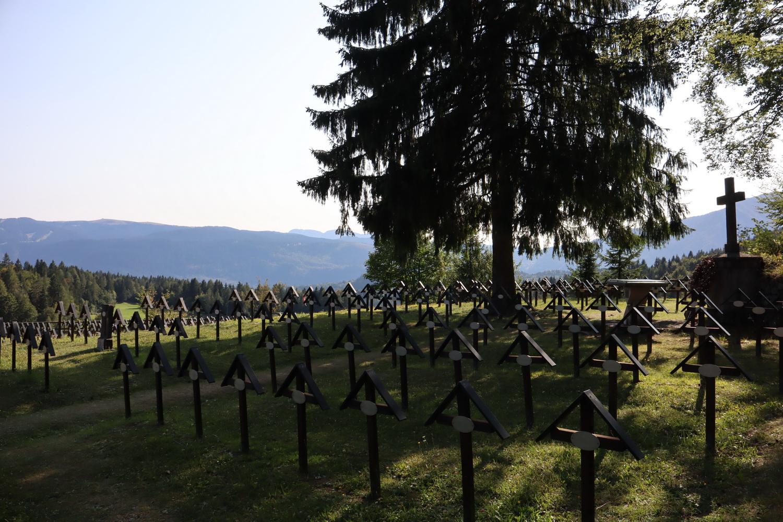 Soldatenfriedhof in Slaghenaufi