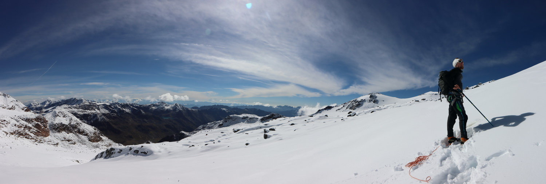 Aufstieg aus dem Val de la Mare- dahinter die Brenta